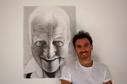 Dean Spinks and his portrait of Como butcher Ted Cary