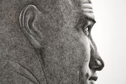 Close up portrait of surfer Kelly Slater