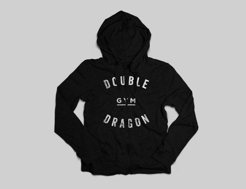 Double Dragon black hoodie