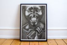 Alek Wek framed portrait
