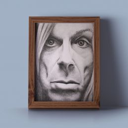 Iggy Pop artwork framed