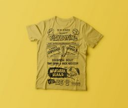 Double Dragon vintage kickboxing tee shirt yellow