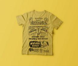 Double Dragon vintage kickboxing tee shirt yellow