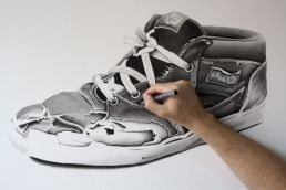 Vans Half Cab drawing by Dean Spinks