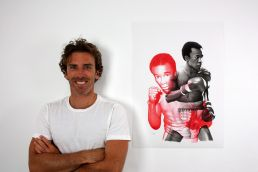 Sugar Ray Leonard drawing by Dean Spinks