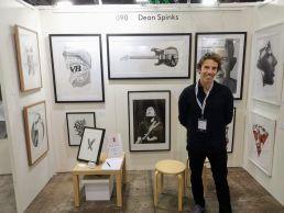Artist Dean Spinks at The Other Art Fair Sydney